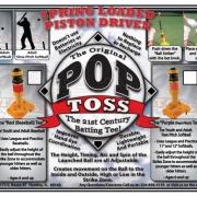 Label for the PopToss Batting Tee Box.